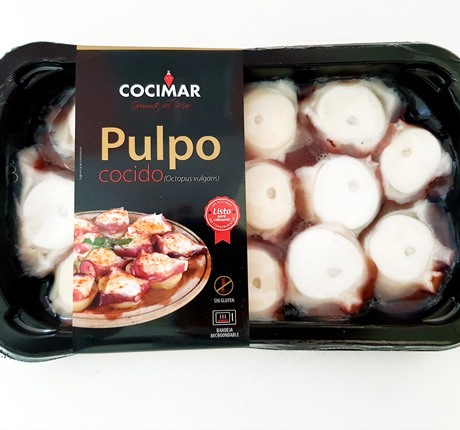 Pulpo troceado al natural